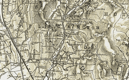 Old map of Balgray Ho in 1901-1904