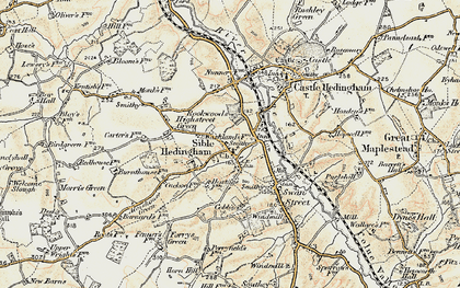 Old map of Sible Hedingham in 1898-1901