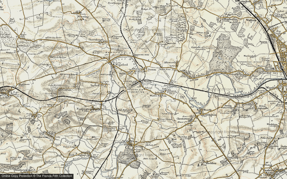 Old Map of Sibson, 1901-1902 in 1901-1902