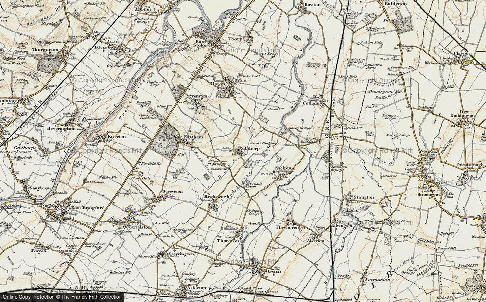 Old Map of Historic Map covering Back Dyke in 1902-1903