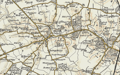 Old map of Sibton in 1901