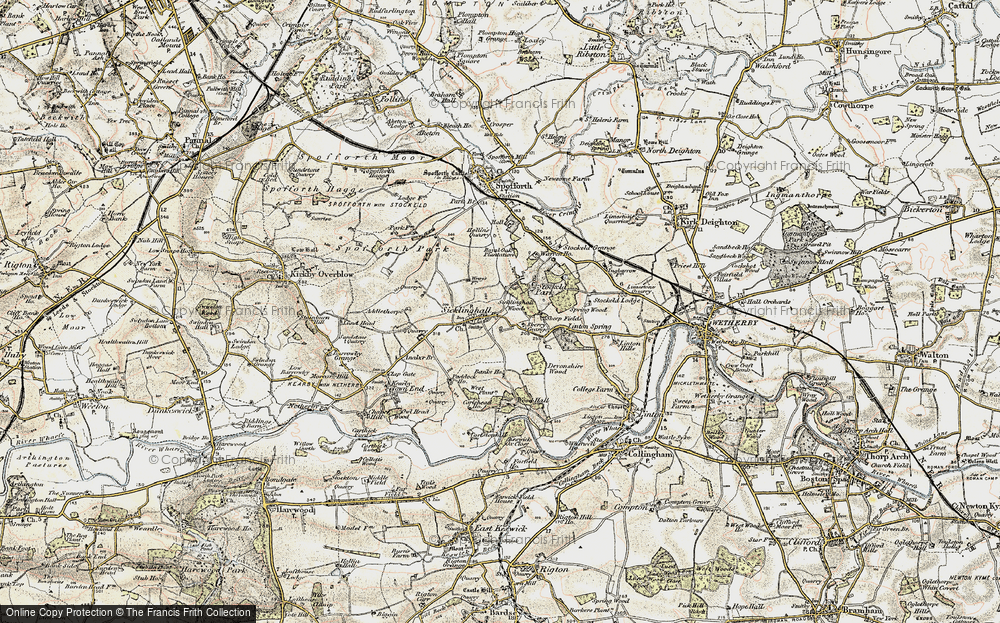Old Map of Historic Map covering Linton Springs (Hotel) in 1903-1904
