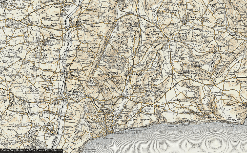 Old Map of Sidbury, 1899 in 1899
