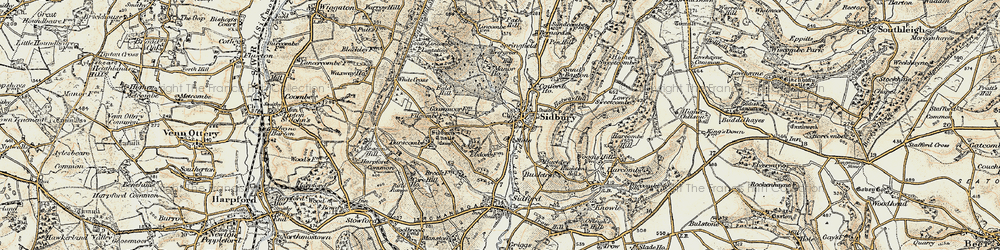 Old map of Sidbury in 1899