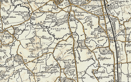 Old map of Sidlow in 1898-1909