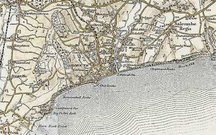 Old map of Sidmouth in 1899