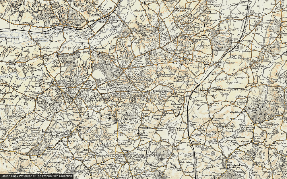 Old Map of Silchester, 1897-1900 in 1897-1900