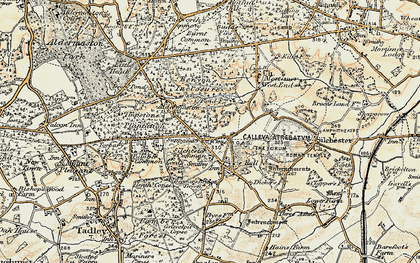 Old map of Silchester in 1897-1900