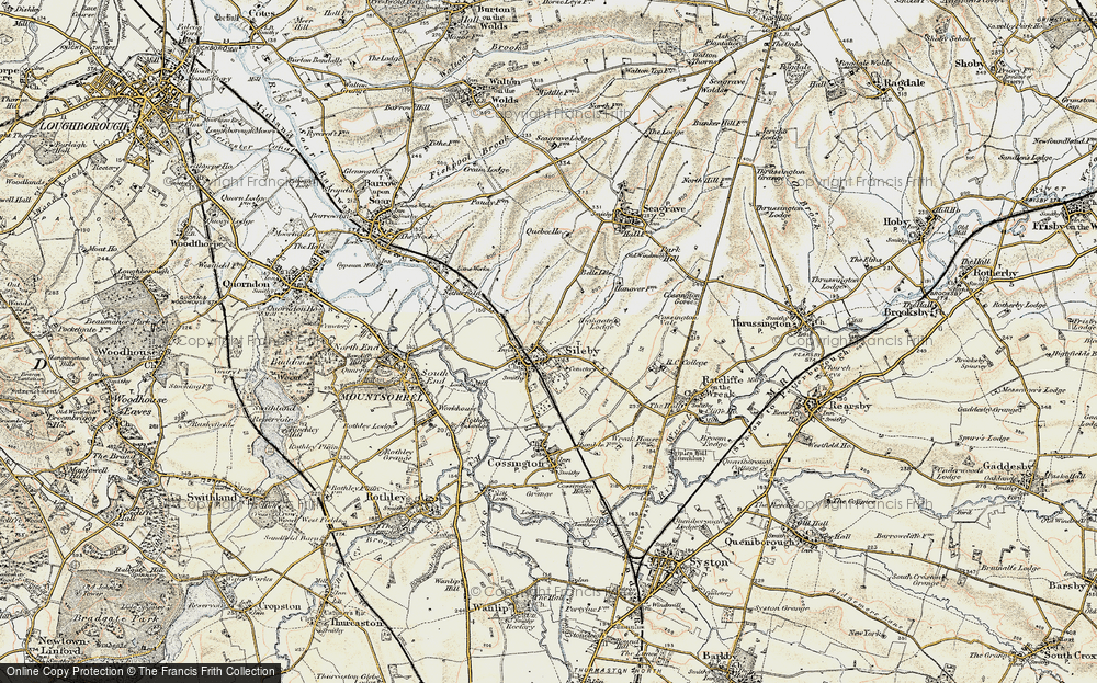 Old Map of Historic Map covering Leicestshire Round, The in 1902-1903