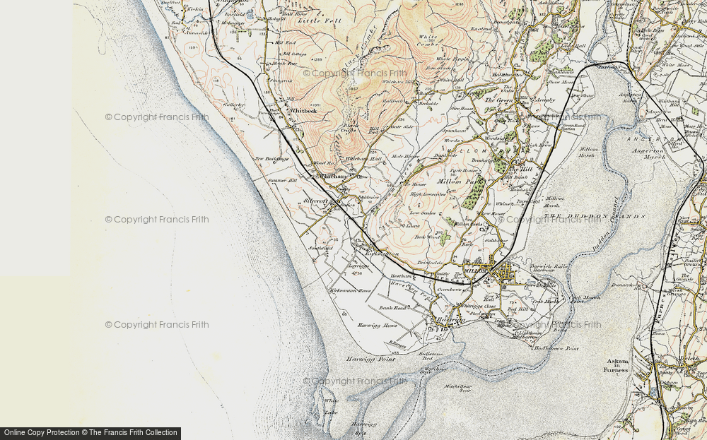 Old Map of Historic Map covering Baldmire in 1903-1904