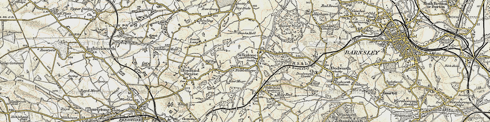 Old map of Silkstone in 1903