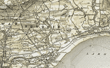 Old map of Letham in 1903-1908