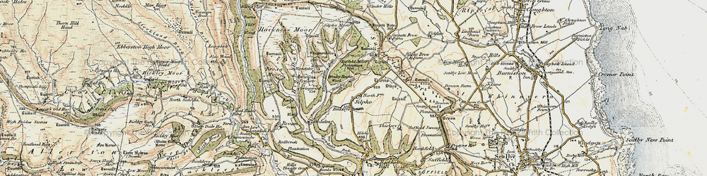 Old map of Whisperdales in 1903-1904