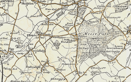 Old map of Wrest Ho in 1898-1901