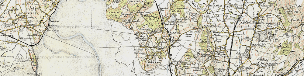 Old map of Silverdale in 1903-1904