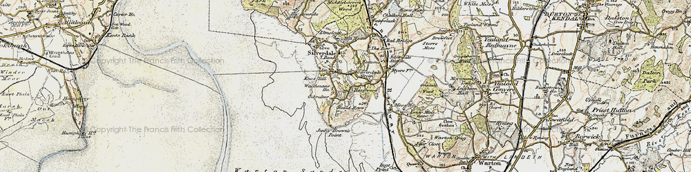 Old map of Lindeth Twr in 1903-1904