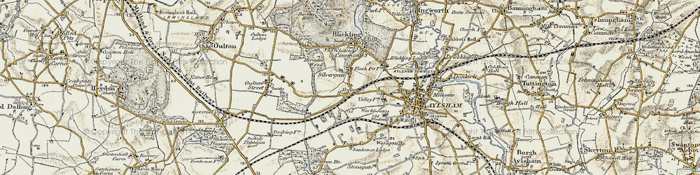 Old map of Abel Heath in 1901-1902