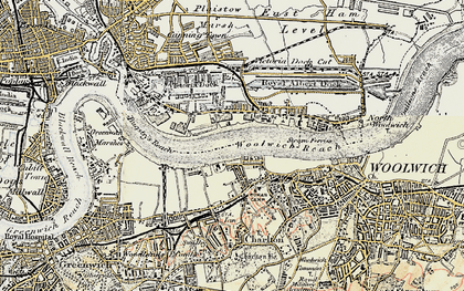 Old map of Silvertown in 1897-1902