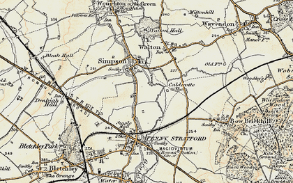 Old map of Simpson in 1898-1901