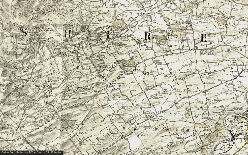 Old Map of Historic Map covering Laws, The in 1901-1904