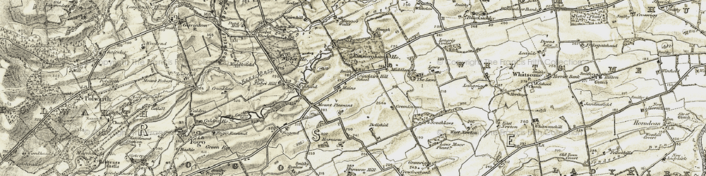 Old map of Laws, The in 1901-1904