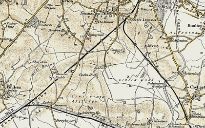 Old map of Sinfin in 1902-1903