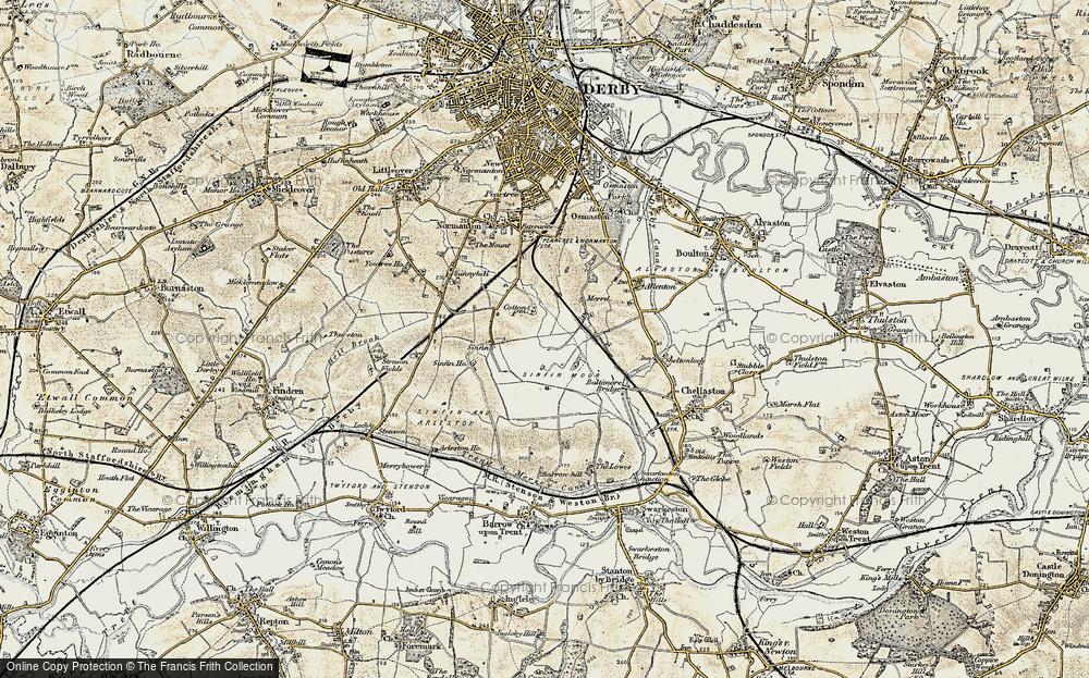 Old Map of Sinfin Moor, 1902-1903 in 1902-1903
