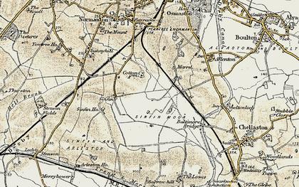 Old map of Sinfin Moor in 1902-1903