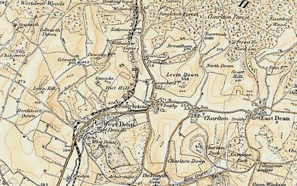 Old map of Singleton in 1897-1899