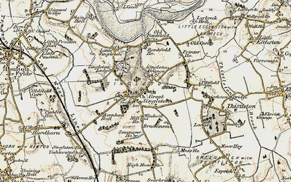 Old map of Singleton in 1903-1904