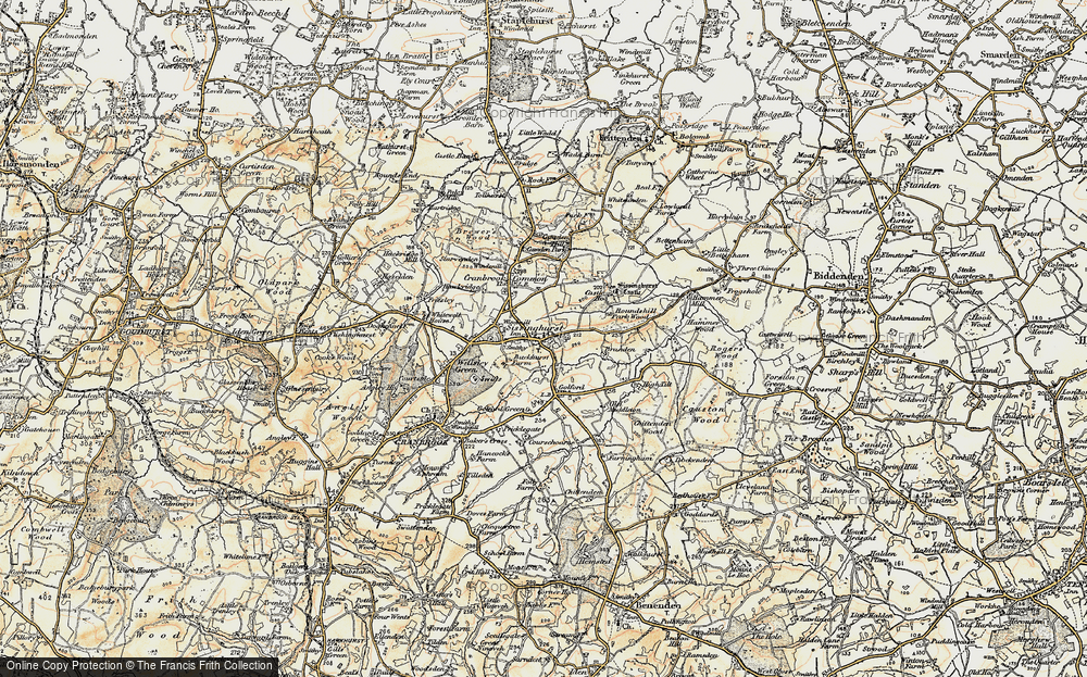 Old Map of Sissinghurst, 1897-1898 in 1897-1898