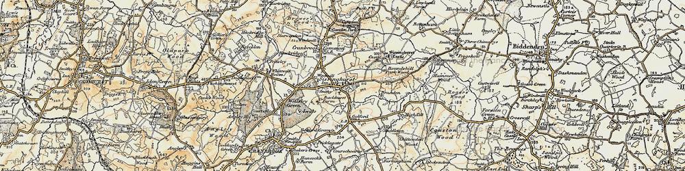Old map of Sissinghurst in 1897-1898