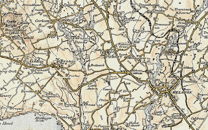 Old map of Sithney in 1900