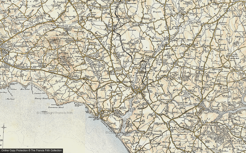 Old Map of Historic Map covering Lanner Vean in 1900