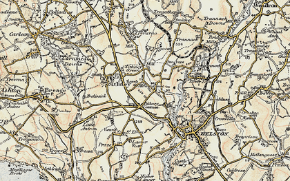 Old map of Lanner Vean in 1900