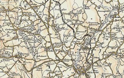 Old map of Sithney Green in 1900