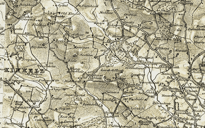 Old map of Wester Blair in 1909-1910