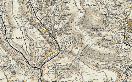 Old map of Six Bells in 1899-1900