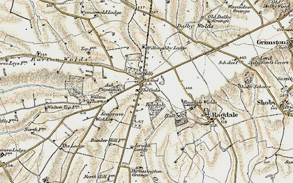 Old map of Wymeswold Lodge in 1902-1903