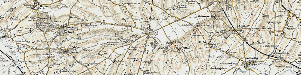 Old map of Willoughby Lodge in 1902-1903