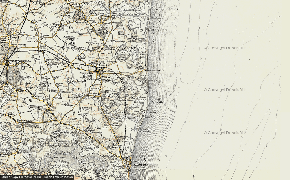Old Map of Sizewell, 1898-1901 in 1898-1901