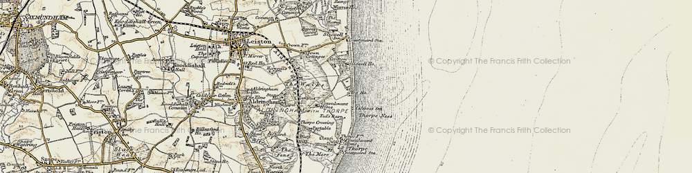 Old map of Sizewell in 1898-1901