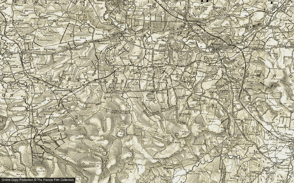 Old Map of Historic Map covering Auchinway in 1904-1905
