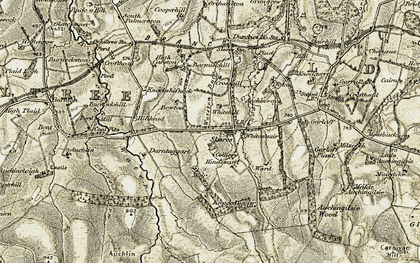 Old map of Whitesmuir in 1904-1905
