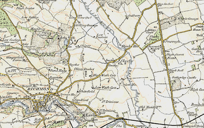 Old map of Skeeby in 1903-1904