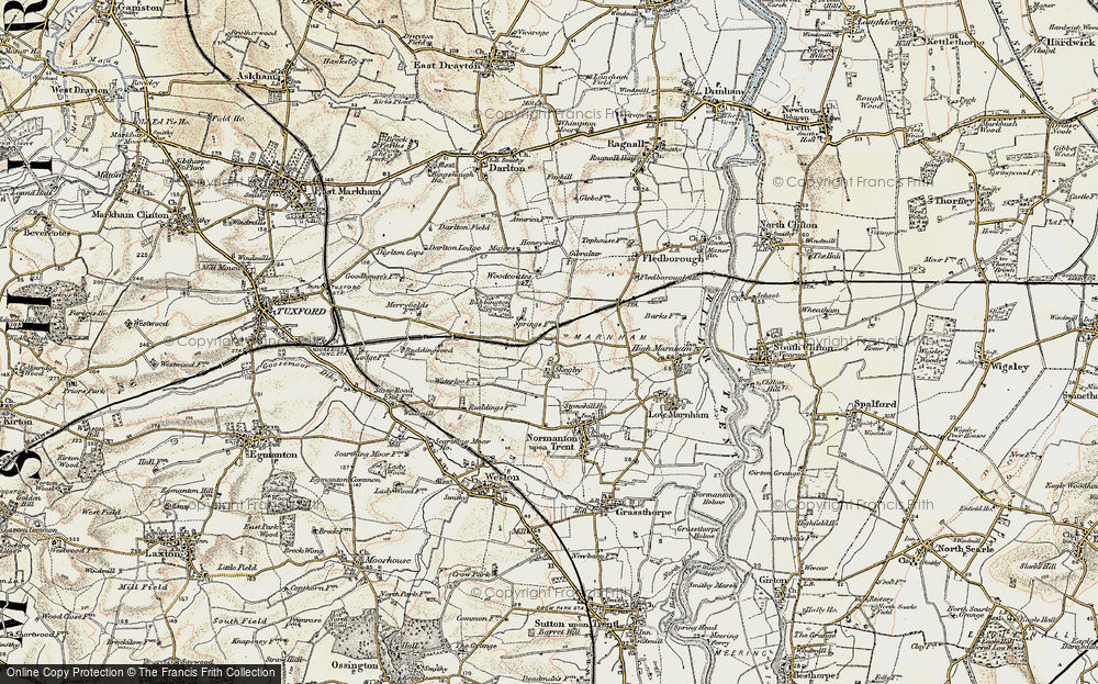 Old Map of Historic Map covering Woodcoates in 1902-1903