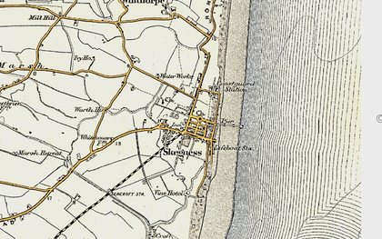 Old map of Skegness in 1901-1903