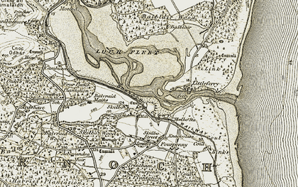 Old map of Skelbo in 1910-1912