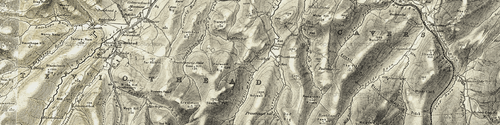 Old map of Tinlee Stone in 1901-1904