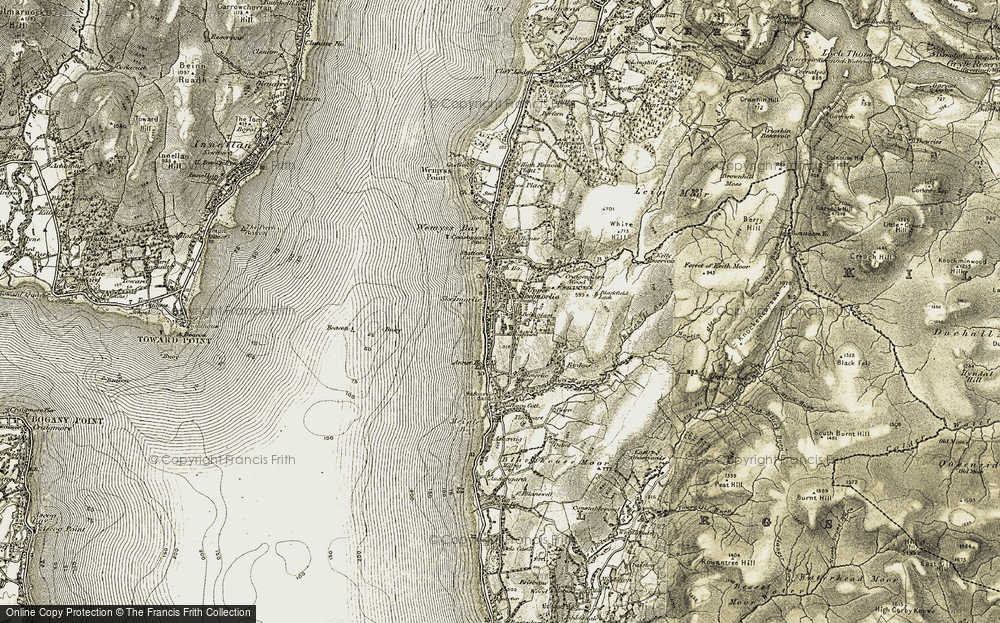 Old Map of Historic Map covering White Hill in 1905-1906
